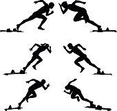set athletics runners