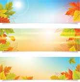 set autumn banners business background