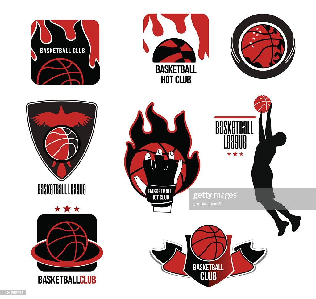 Set basketball League logo and emblem.