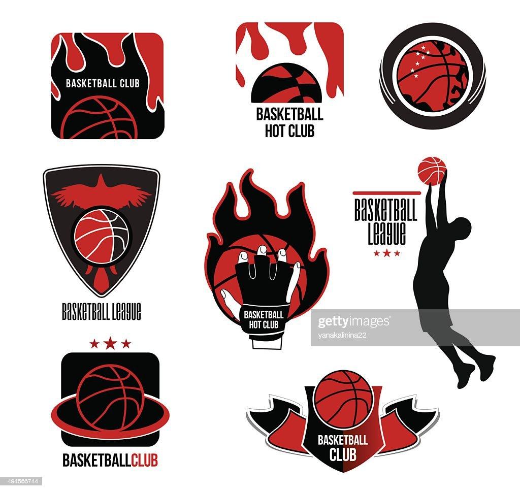Set basketball League logo and emblem.