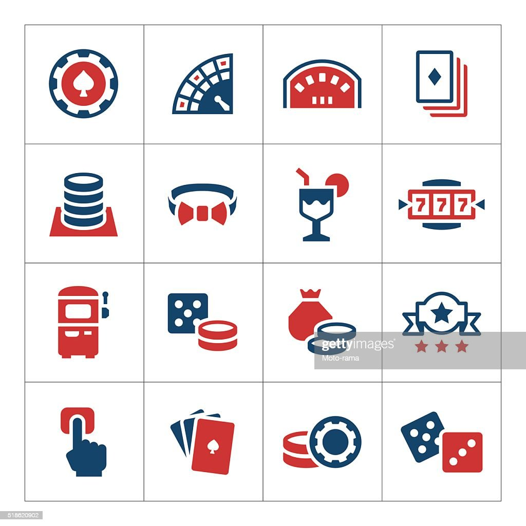 Set color icons of casino