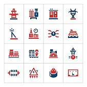 Set color icons of power industry