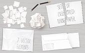 Set creasy paper sheets