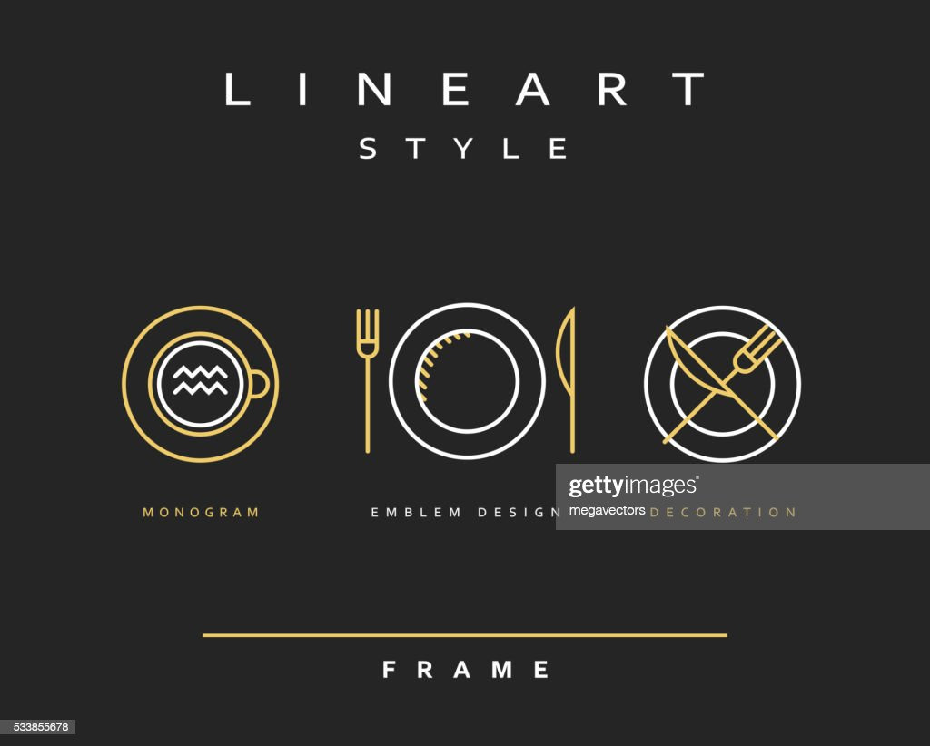 Set cutlery icons. Plate fork and knife