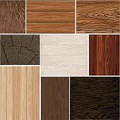 Set  different wood textures . seamless.  backgrounds. Brown white beige. boards.