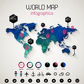 Set elements of infographics.