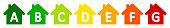 Set energy efficient house – stock vector