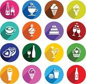 Set flat food icons