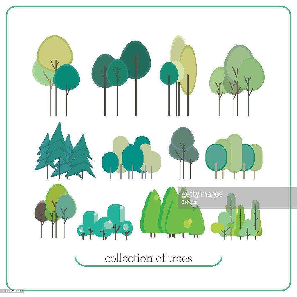 Set flat landscape elements