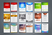 Set flyers and brochures polygonal