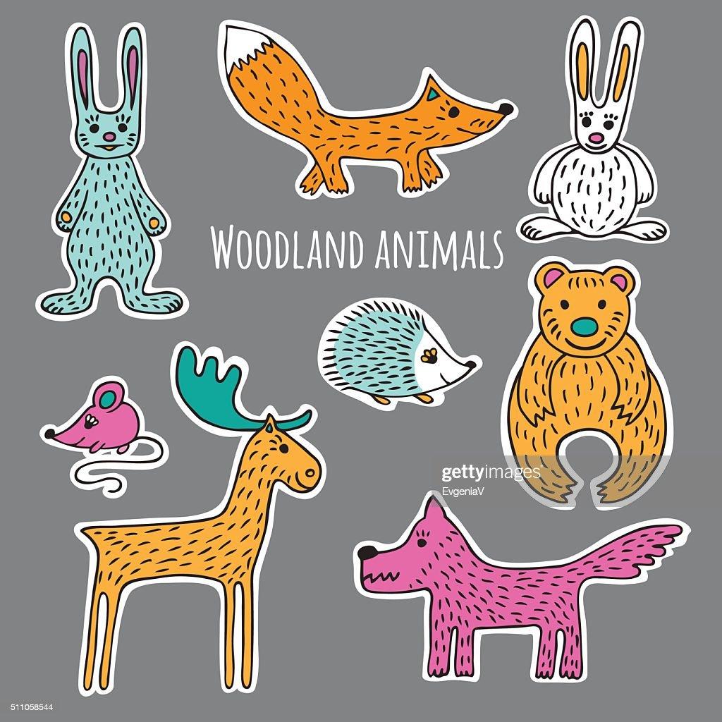 Set forest animals