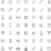 Set Forty-nine outline Medical icons
