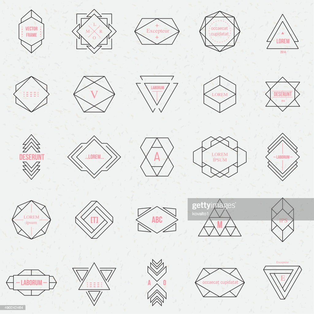 Set geometric signs, labels, and frames