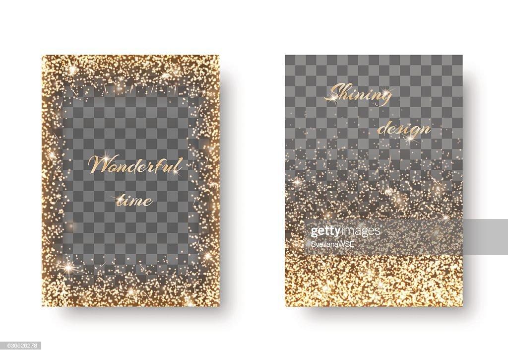 Set golden transparent background