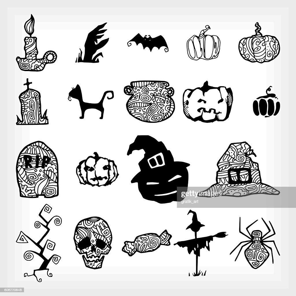 set halloween silhouette