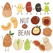 set happy cute nut and bean,almond,peanut,seed,Pistachio, cashew,red bean,black bean, hazelnut and macadamia.