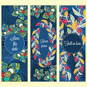 set holiday card for wedding invitations
