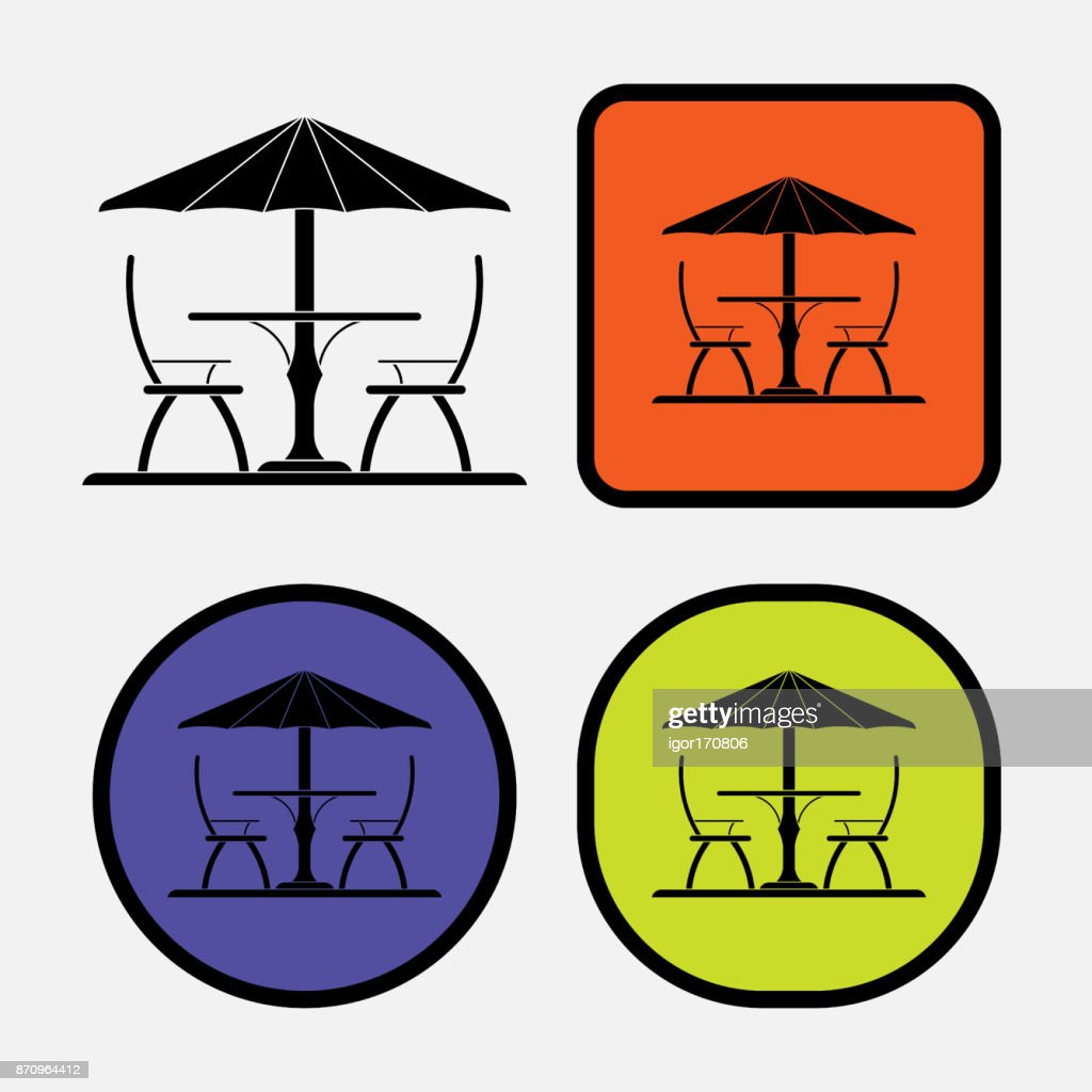 set icon leisure, cafes, beach
