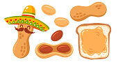 Set icon of peanuts
