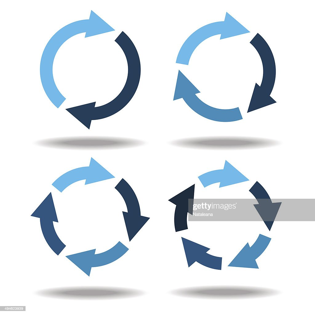 Set icons circle arrows. Circular diagram