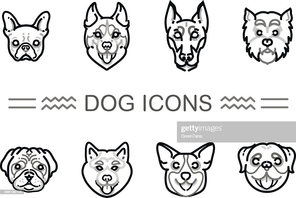 Set icons dogs