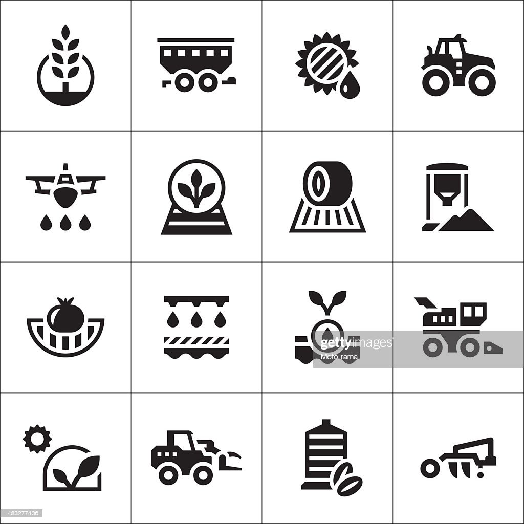 Set icons of agriculture