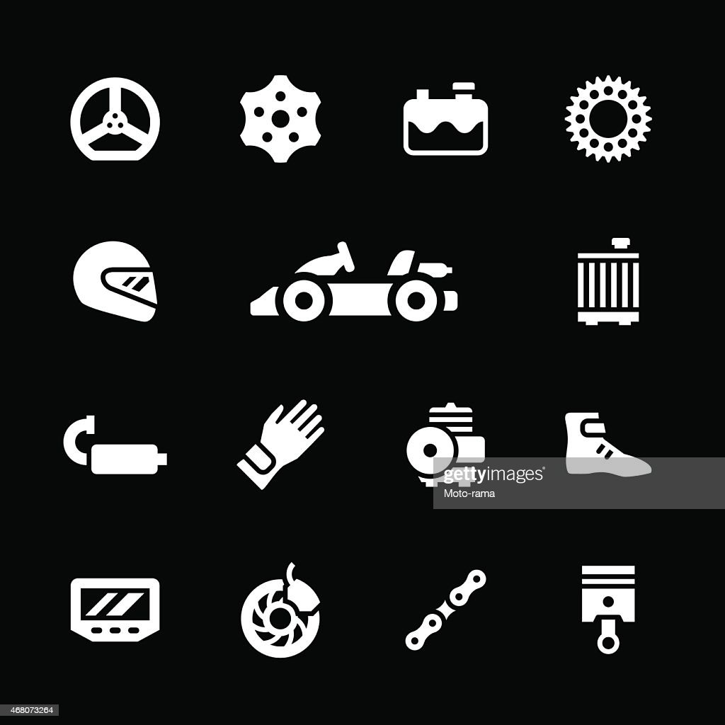 Set icons of karting
