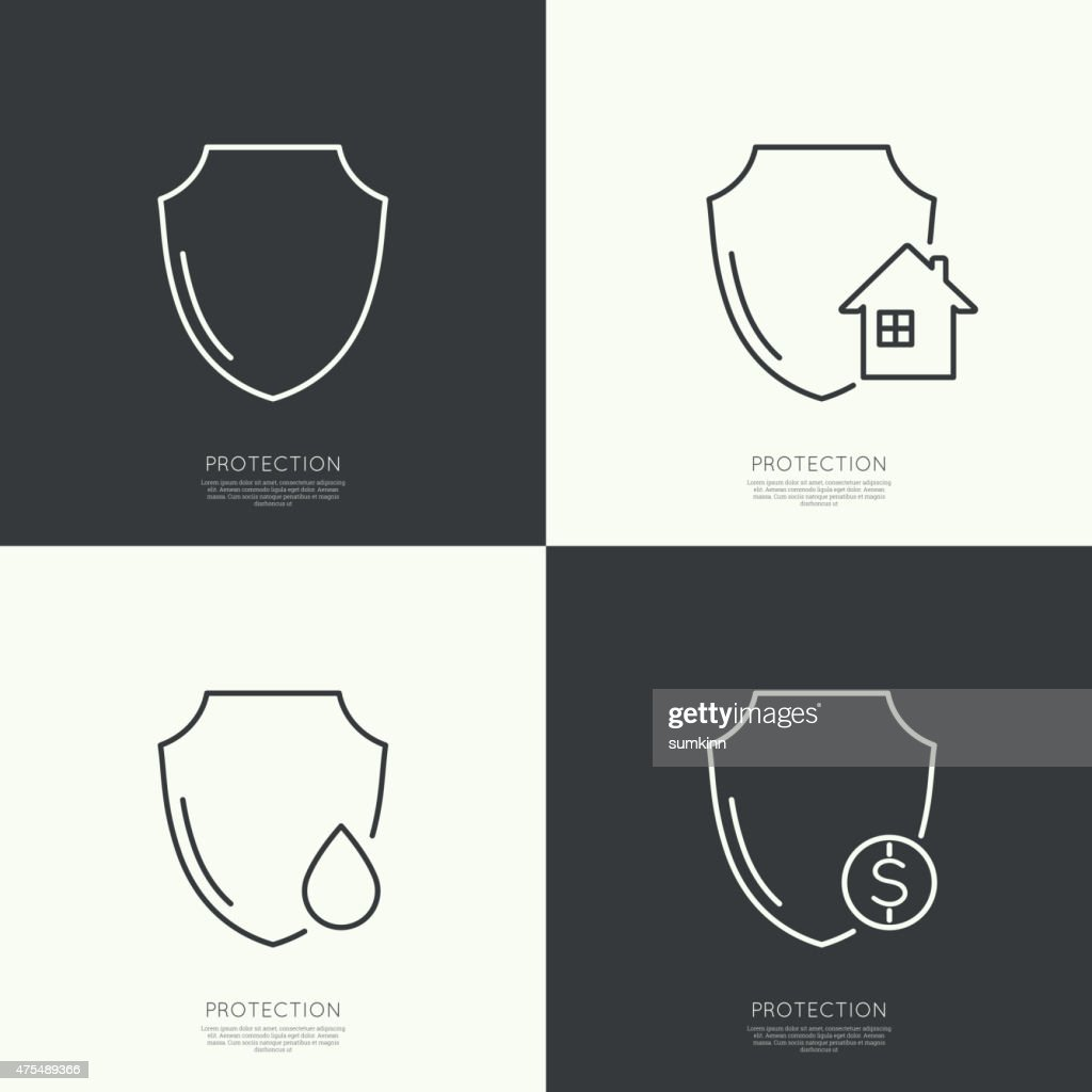 Set icons of protection