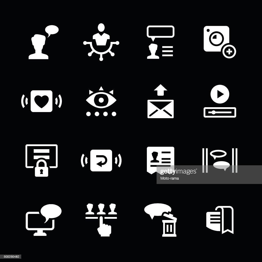 Set icons of social network