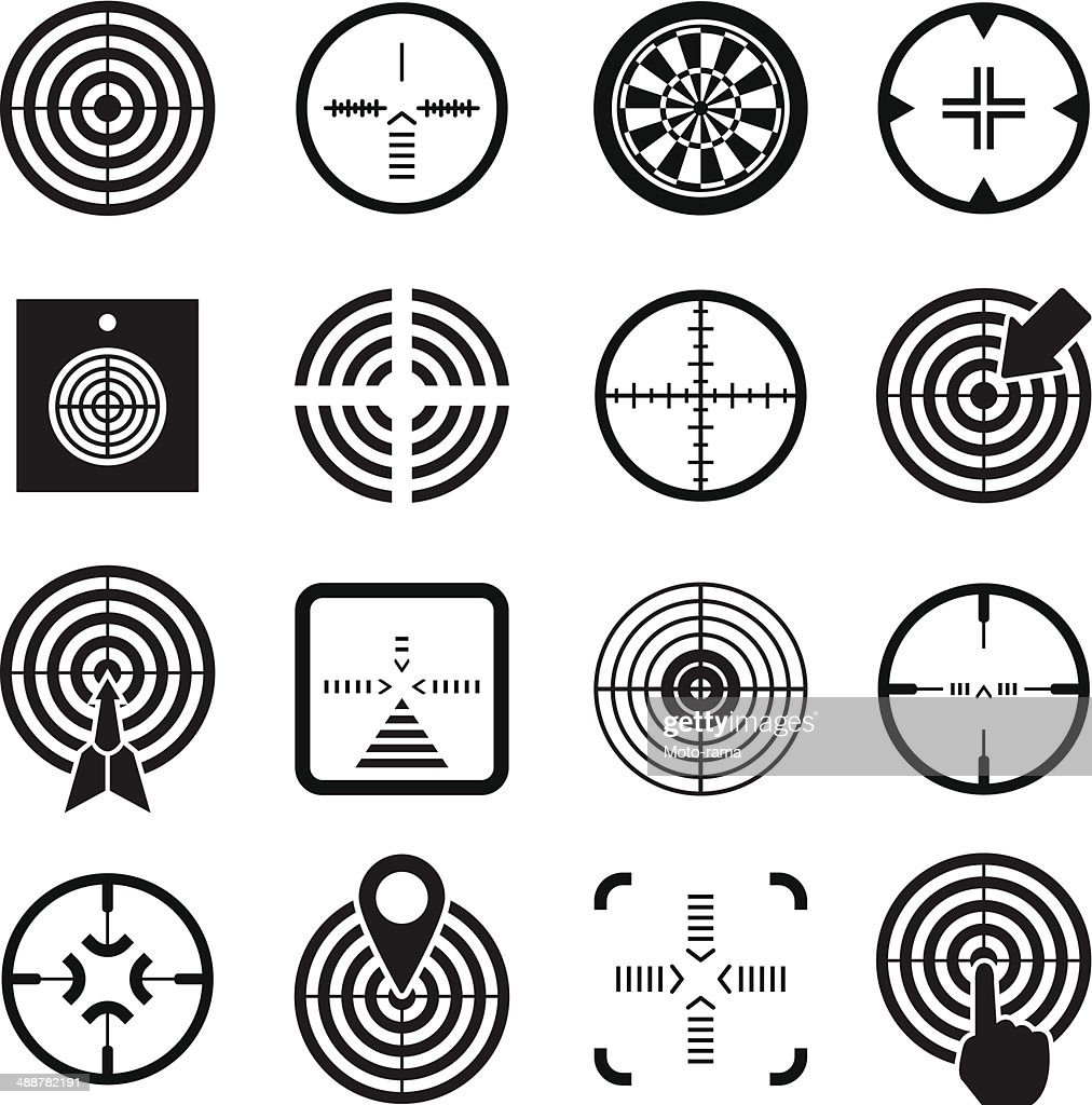 Set icons of target and sights
