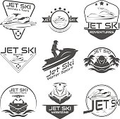 Set Logo jet ski, scooter