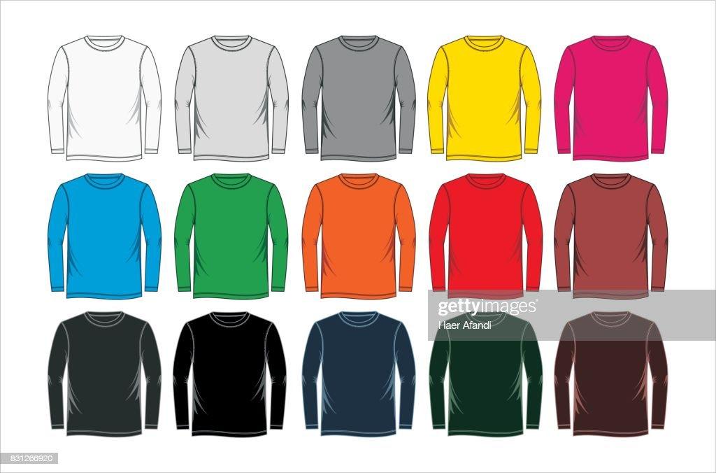 set long T-shirt blank colorful
