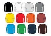 set long-sleeved T-shirt colorful