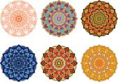 set mandala different color
