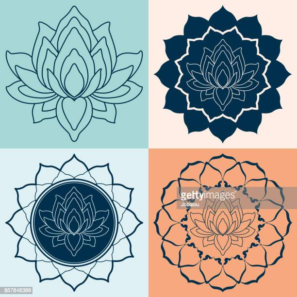Set Mandalas lotusbloem