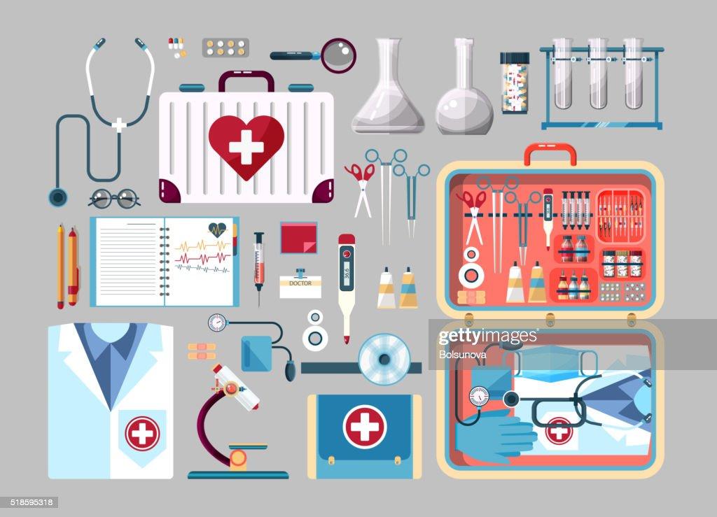 Set medician illustration