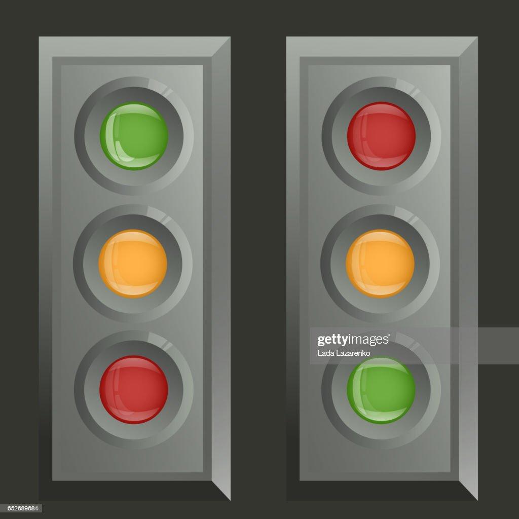 Set metal traffic lights