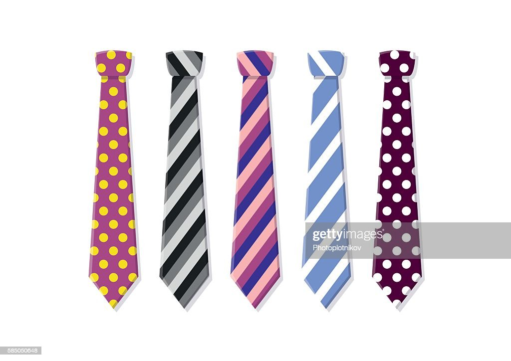 Set neck ties for business and casual attire.