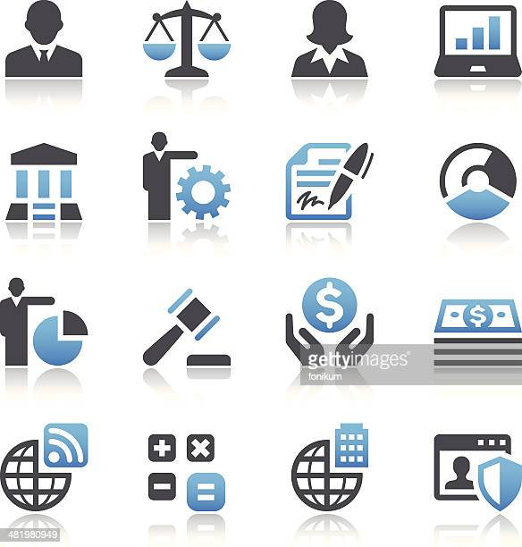 Set of 16 business vector images