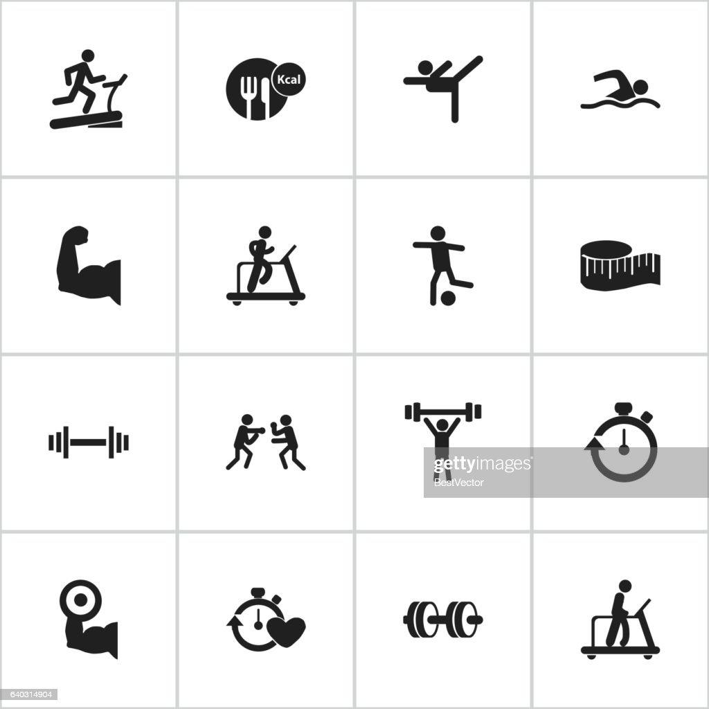 Set Of 16 Editable Lifestyle Icons.