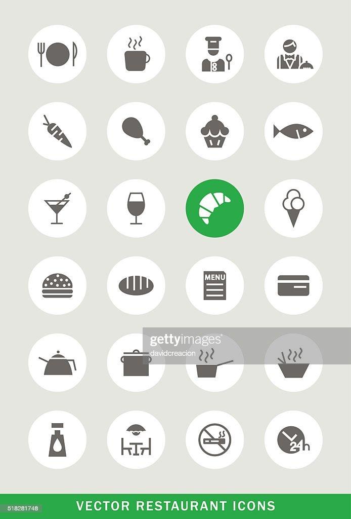 Set of 24 Universal Restaurant Icons.