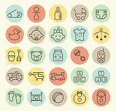 Set of 25 Baby Icons.