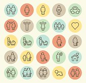 Set of 25 Family Icons.