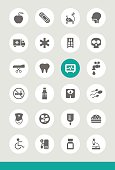 Set of 25 Universal Medical Icons.