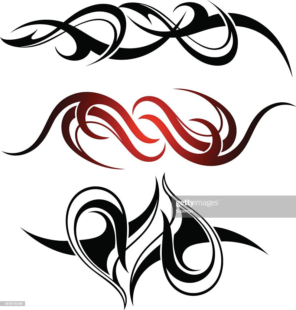 Set of 3 different vector tribal tattoo