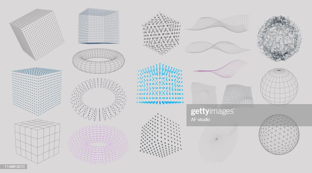 Set of 3D Elements : Stock Illustration
