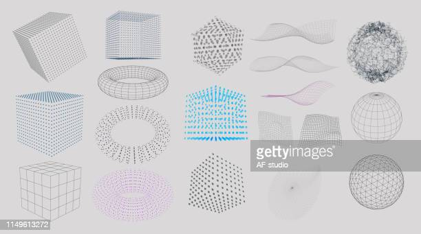 set of 3d elements - copy space stock illustrations