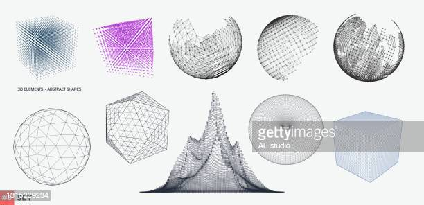 set of 3d elements - af-studio stock illustrations