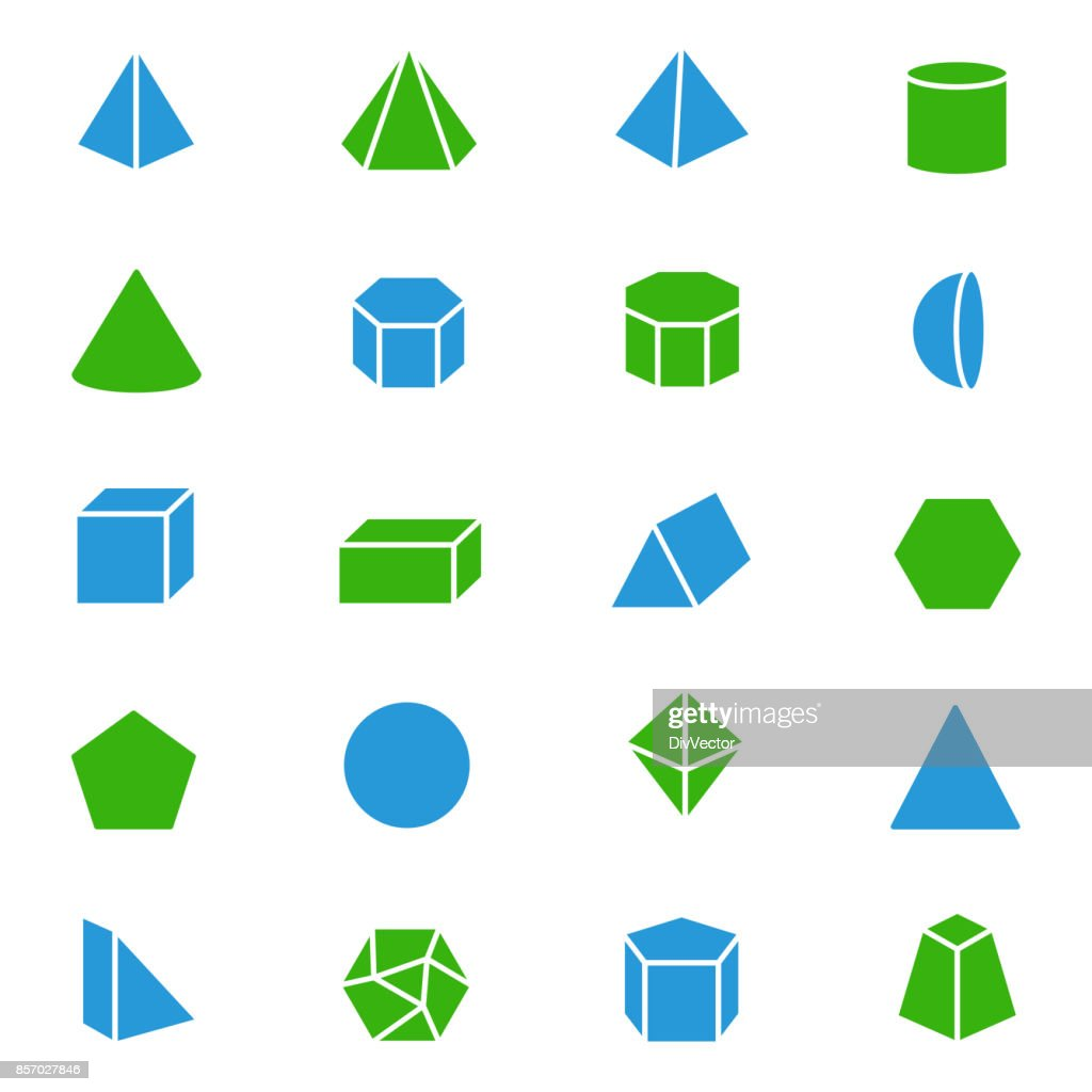 Set Of 3d Geometric Shapes stock illustration - Getty Images