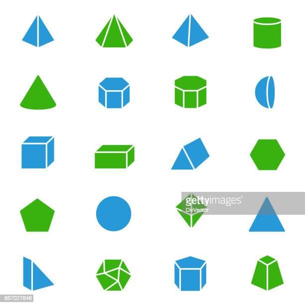 Aantal 3D-geometrische vormen